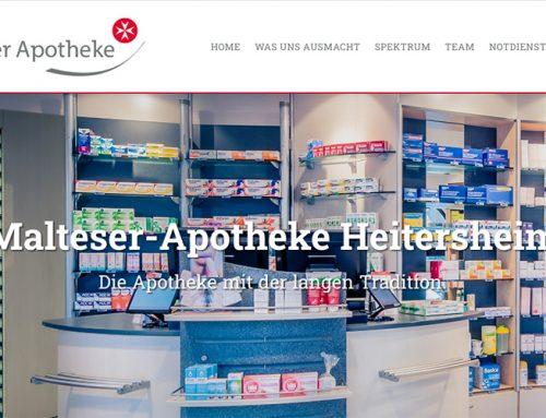 Webseitentexte für Malteser-Apotheke Heitersheim