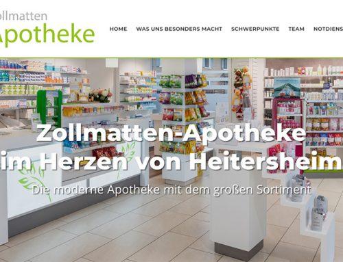 Webseitentexte für Zollmatten-Apotheke Heitersheim