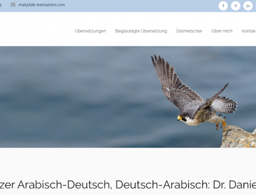 Websitetexte, Webtext-Relaunch für Übersetzungsbüro Dr. Falk, Freiburg