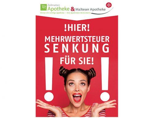 Plakat MwSt. Senkung
