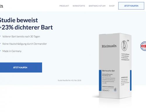 Website-Texte für Bartwuchsmittel + Shop