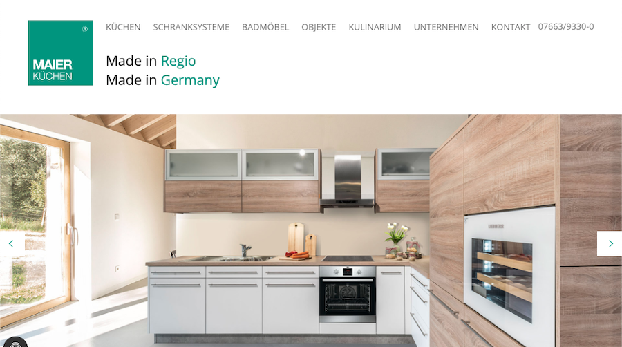 Webtexte Maier Küchen