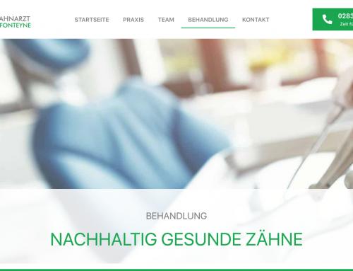Website Texte für Zahnarzt-Behandlungen, Dr. med. dent. Fonteyne Geldern