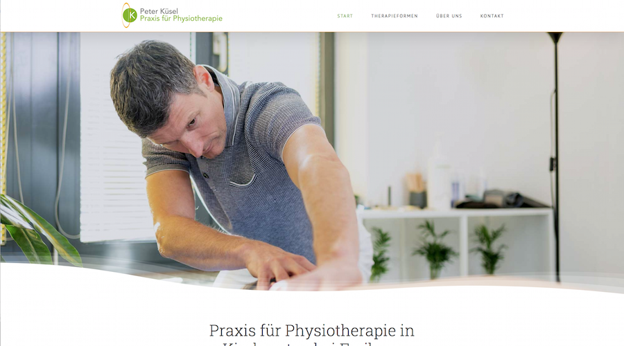 Website Texte Physiotherapeut