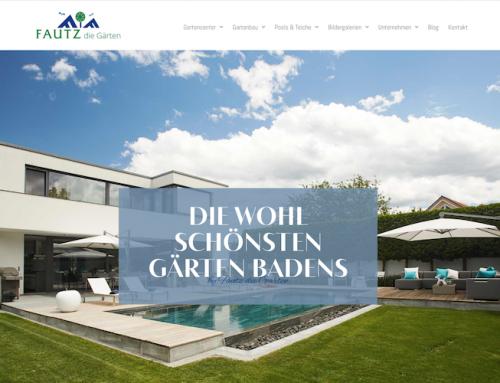 Texte für die neue Webseite für Gartenbau & Gartencenter Fautz die Gärten in Bad Krozingen
